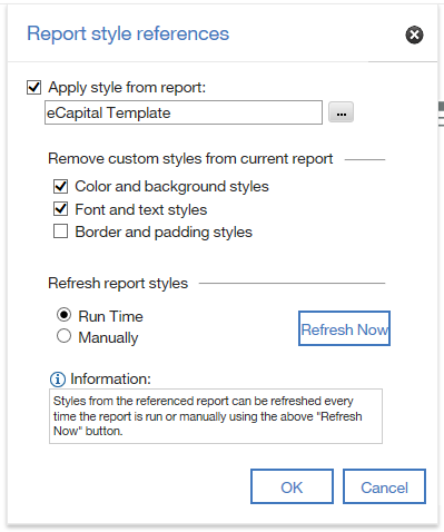 Completed Report Style Reference