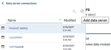 Add data server button