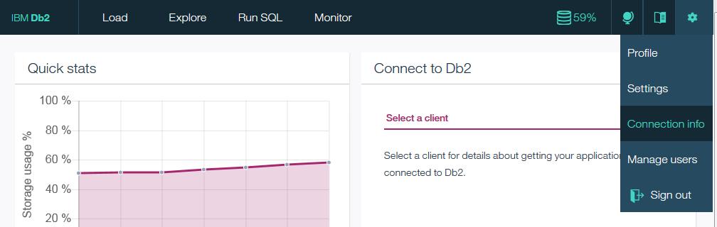 Connecting Cognos Analytics to DashDB Dashboard