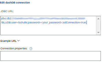 Paste in connection string
