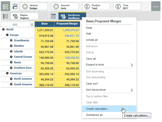 Adding calculations dynamically in IBM Planning Analytics
