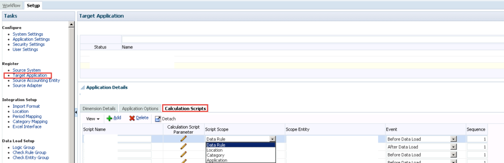 How to pass variables and execute Essbase calc scripts at different points in the FDMEE workflow process