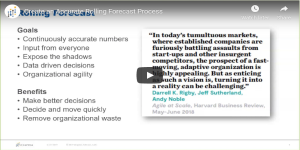 Create an Accurate Rolling Forecast Process