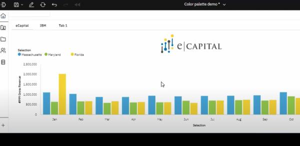 color palette planning analytics workspace