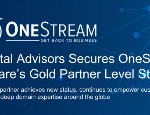 eCapital Advisors Secures OneStream Software's Gold Partner Level Status